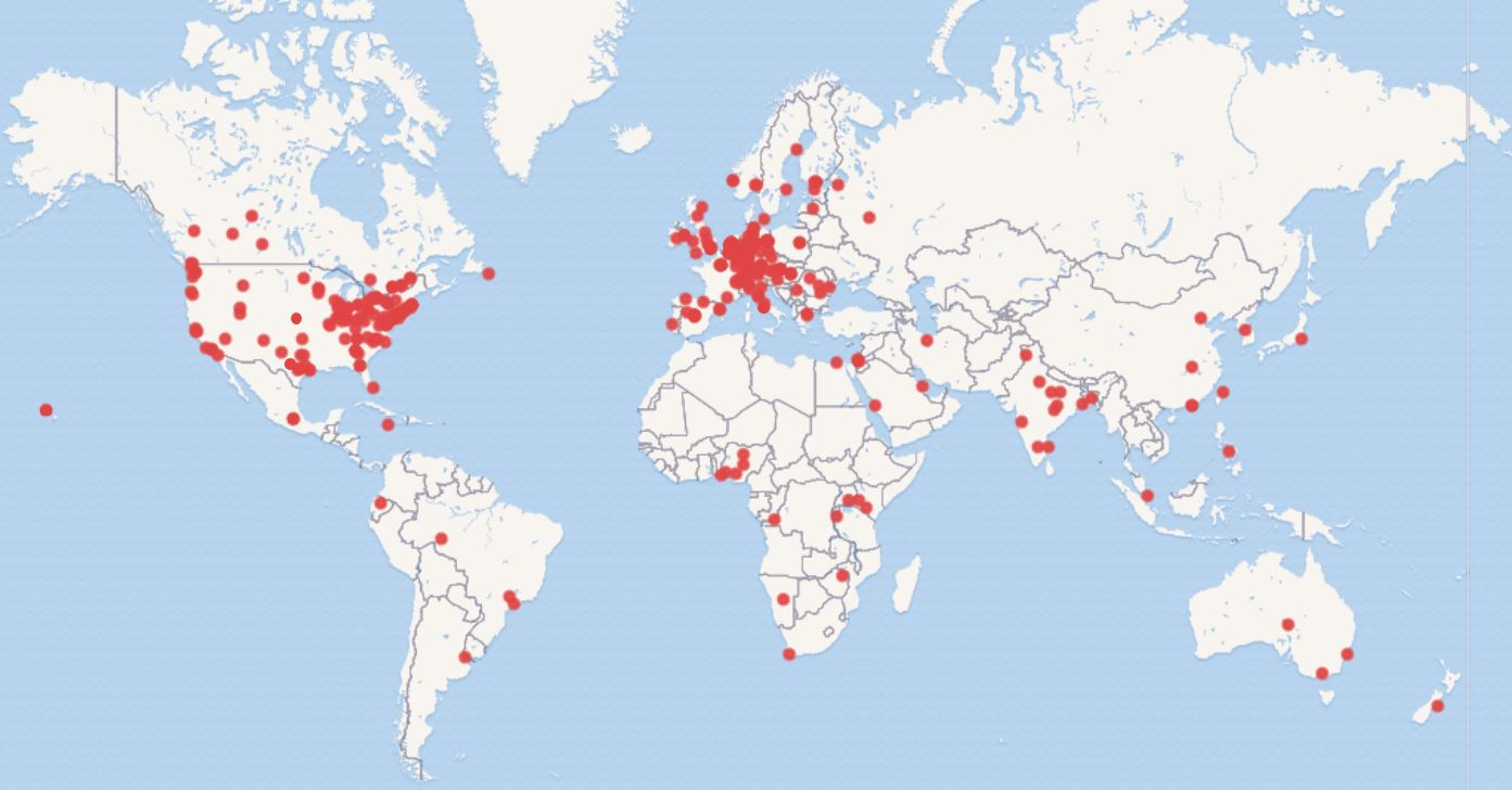 SWIB20 participant map