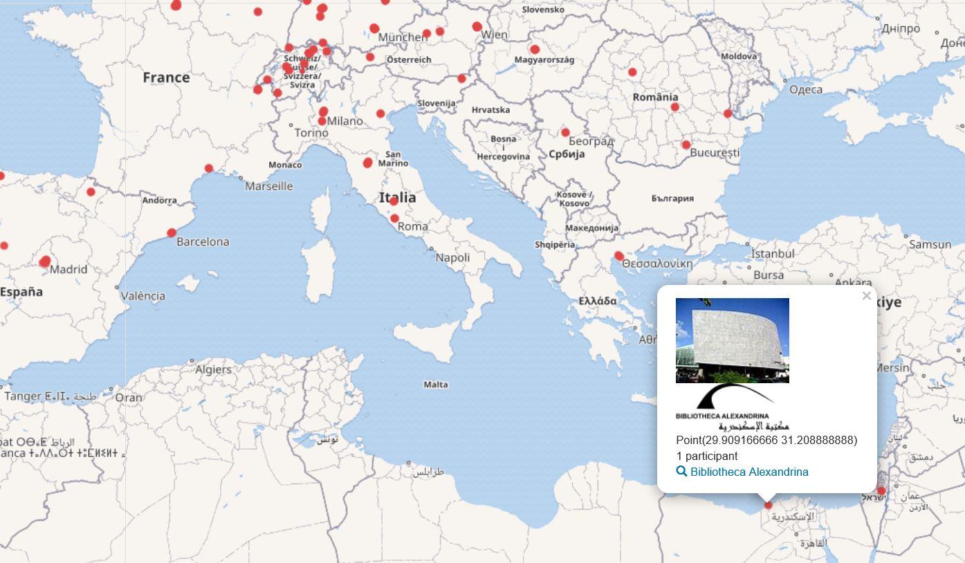 SWIB20 participant map - detail